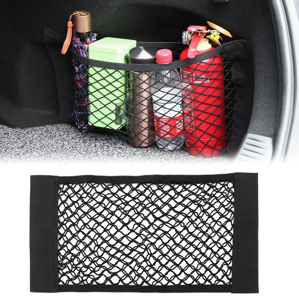 2019 Super Big 50cm x 25cm Auto Seat Back Storage Mesh Bag Car Organizer Net Magic Sticking Holder Pocket Car Trunk Organizer