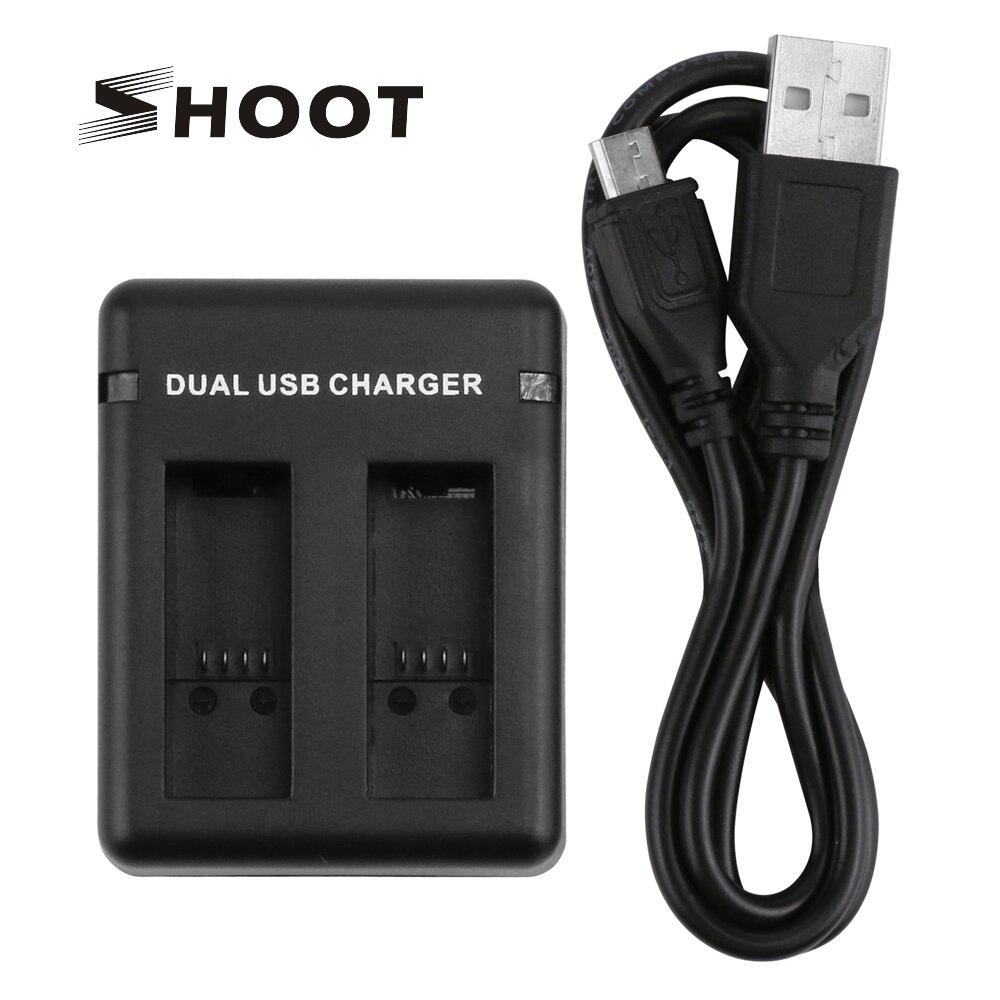 SHOOT-cargador de batería de AHDBT-501 con ranura Dual/tres puertos para GoPro Hero...