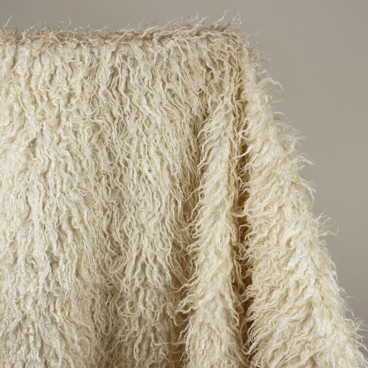 Marfil mongol rizado oveja Imitación Piel tela chaleco piel abrigo bebé fotografía accesorios vendidos por la yarda envío gratis