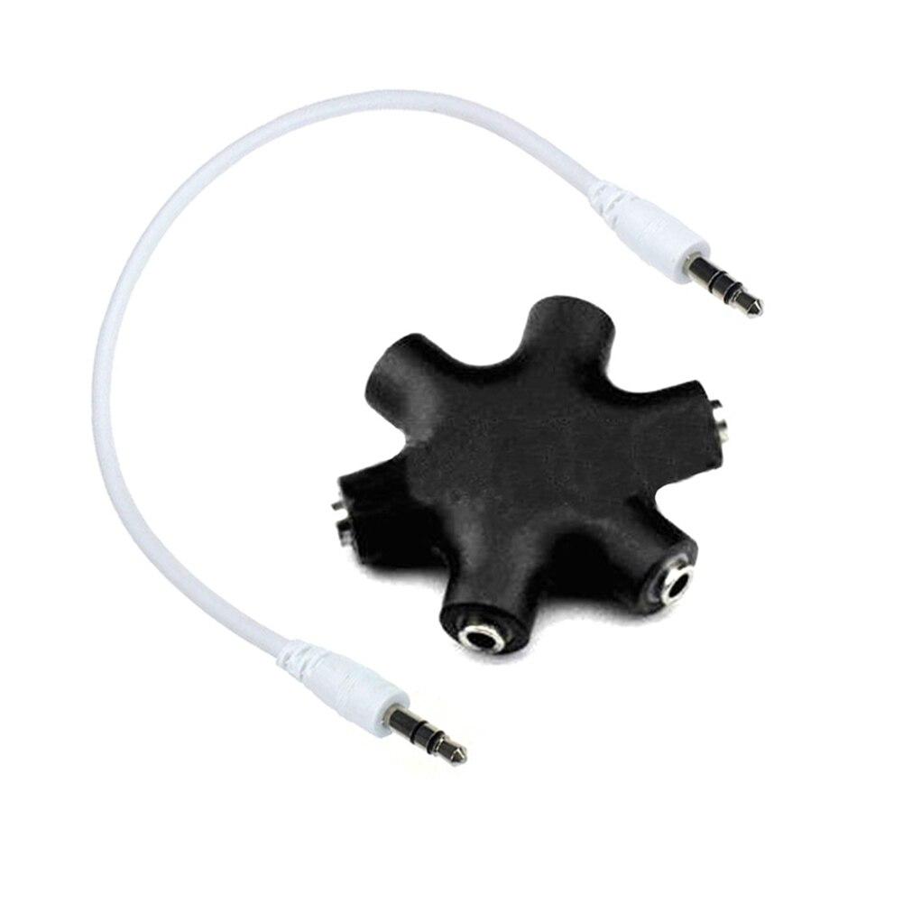 3,5mm 1 a 5 estéreo Audio Auriculares auriculares divisor Adaptador convertidor conector música compartir dispositivo Hub UY8