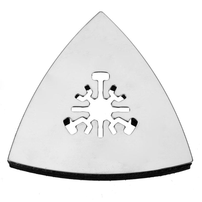 1pc 80mm oscilante almohadilla de lijado triangular universal de acero inoxidable herramientas rotativas esquina lijado base triangular
