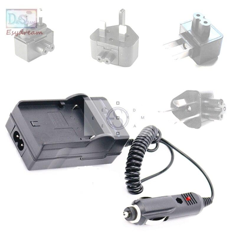 Cargador de batería + cargador de coche + AU/US/UK/EU adaptador para Panasonic CGA-S008 S008E BCE10 DMC-FS3 FS5 FS20 FX38 FX33 FX36 como DE-A40