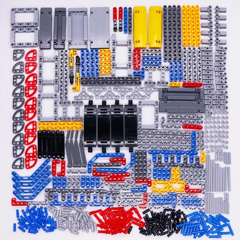 Technic Parts Bricks Pin Liftarm Studless Beam Axle Connector Panel gear Car Toys Mindstorm compatible Building Blocks Bulk sets