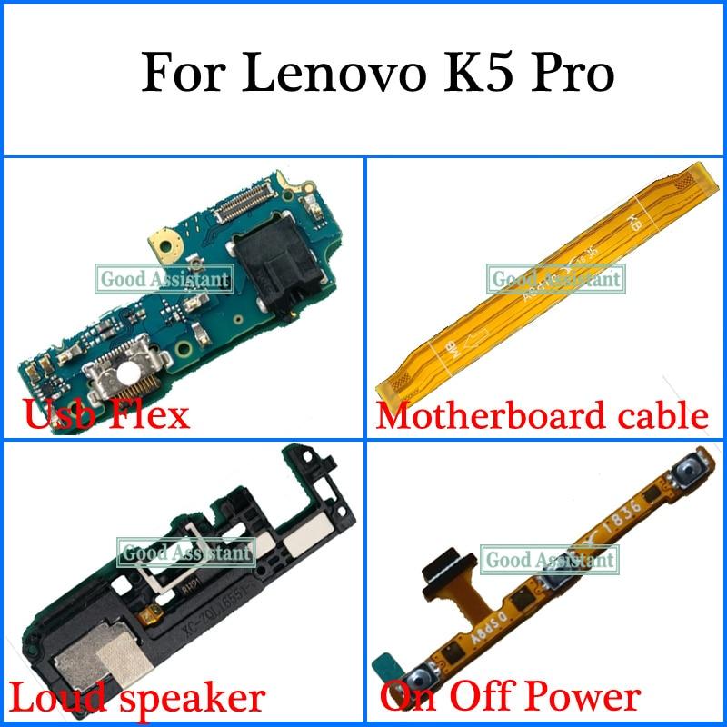 Para Lenovo K5 Pro L38041 Usb Flex cable de placa base altavoz fuera de botón de teclado de volumen Cable Flex