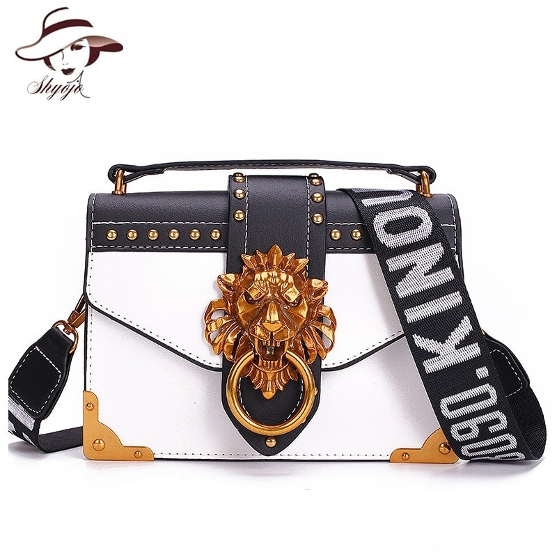 2021 Fashion Lion Head Famous Brand Mini Shoulder Bag Party Crossbody Clutch Purse for Women Designer Female Messenger Handbags