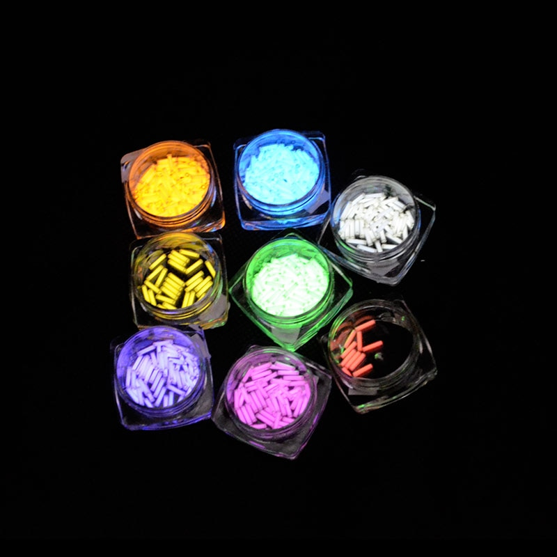 1pc 1.5mm*6mm Automatic light 15 years Tritium Keychain Key Ring EDC Tube Lifesaving Emergency Lights