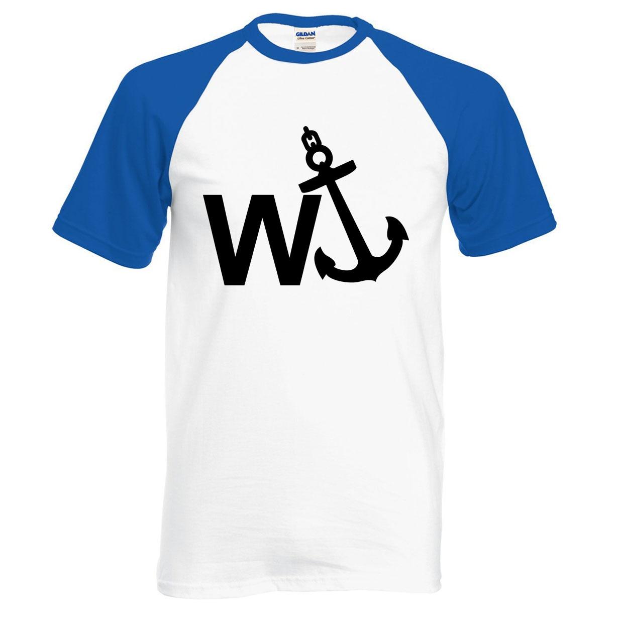 WAnker Engraçado Comédia Âncora Rude camisa dos homens t 2019 verão 100% algodão de alta qualidade homens raglan t-shirt da forma de manga curta camisa