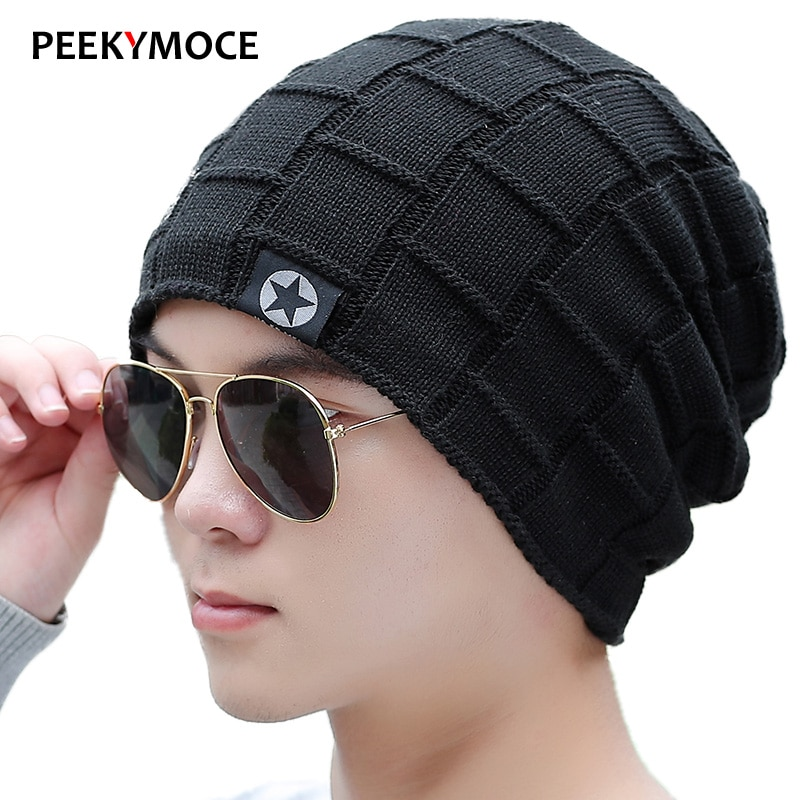 Модные мужские облегающие шапки, теплые вязаные шапки, женская шапка, осенне-зимние шапки, Женская Повседневная шапка, шапочки