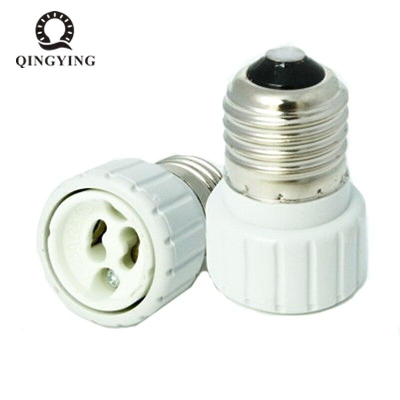 10 pçs/lote E27 para GU10 E27-Gu10 Base do Bulbo do Diodo Emissor de Luz Base Da Lâmpada Conversor Suporte da lâmpada À Prova de Fogo Tomada Conversão Excelente Qualidade