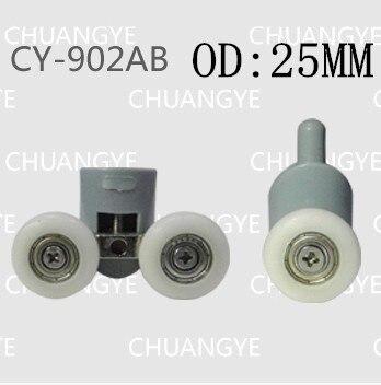 OD:25mm 8pcs hower room accessories bathroom accessories shower cabin pulley bathroom pulley old fashioned pulley 25 diameter