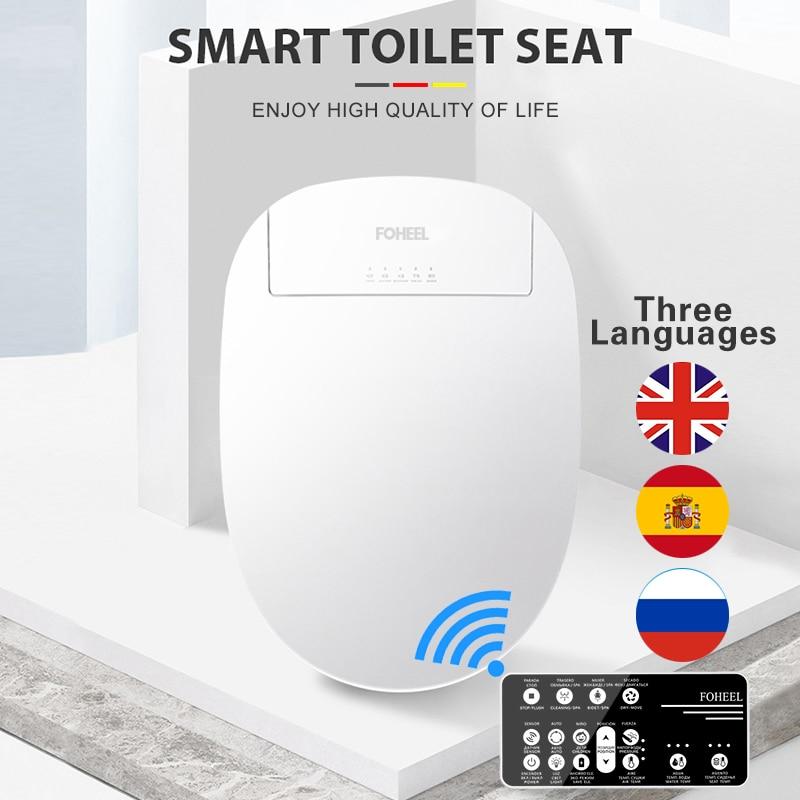فوهيل بيديه كهربي غطاء الذكية بيديت مقعد توليت ذكي ساخنة المرحاض مقعد مصباح ليد Wc مقعد مرحاض ذكي طويل قصير