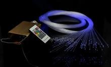 Mini maison optique fibre lumière bébé chambre plafonnier lampe de fête de mariage 10 w changement de couleur sans fil à distance multi-modes