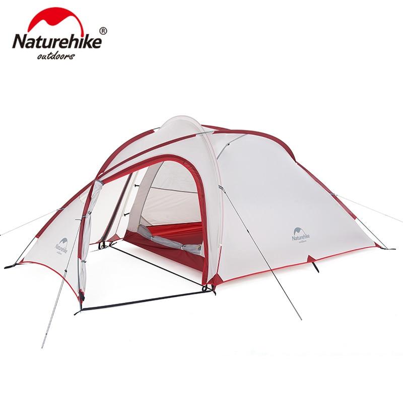 خيمة معسكرات للعائلة من Naturehike 20D/40D فائقة الخفة 1 غرفة 1 قاعة سلسلة Hiby NH19ZP016