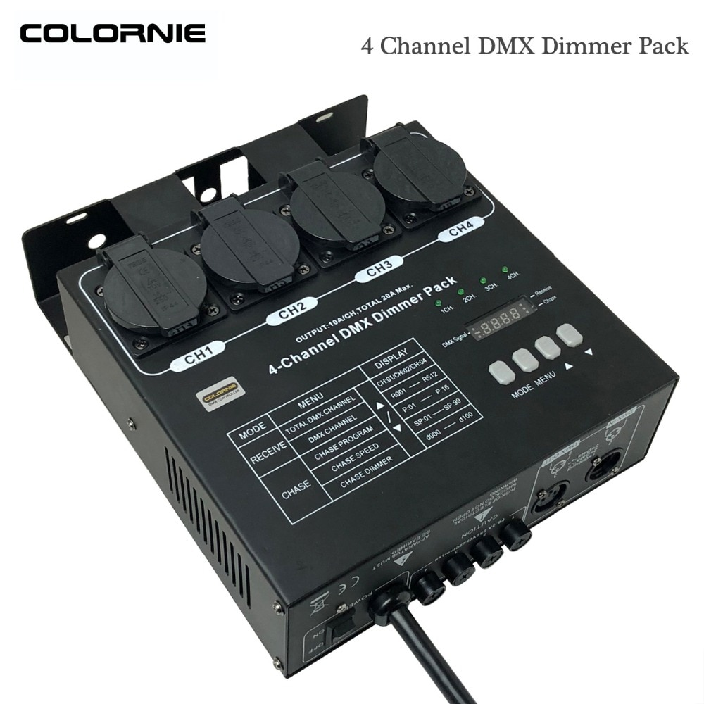 4 canales paquete regulador voltaje DMX controlador MIDI DMX divisor de interruptor...