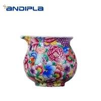 180ml jingdezhen hand painted exquisite enamel color flower pattern fair cup office drinkware home coffee milk mug tea cup gifts