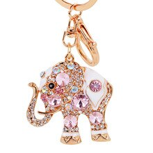Женский брелок со слоником, со стразами и кристаллами, брелоки, брелоки, подвески с держателем для ключей, сумка для девушек, брелок с подвеской для автомобиля Llavero