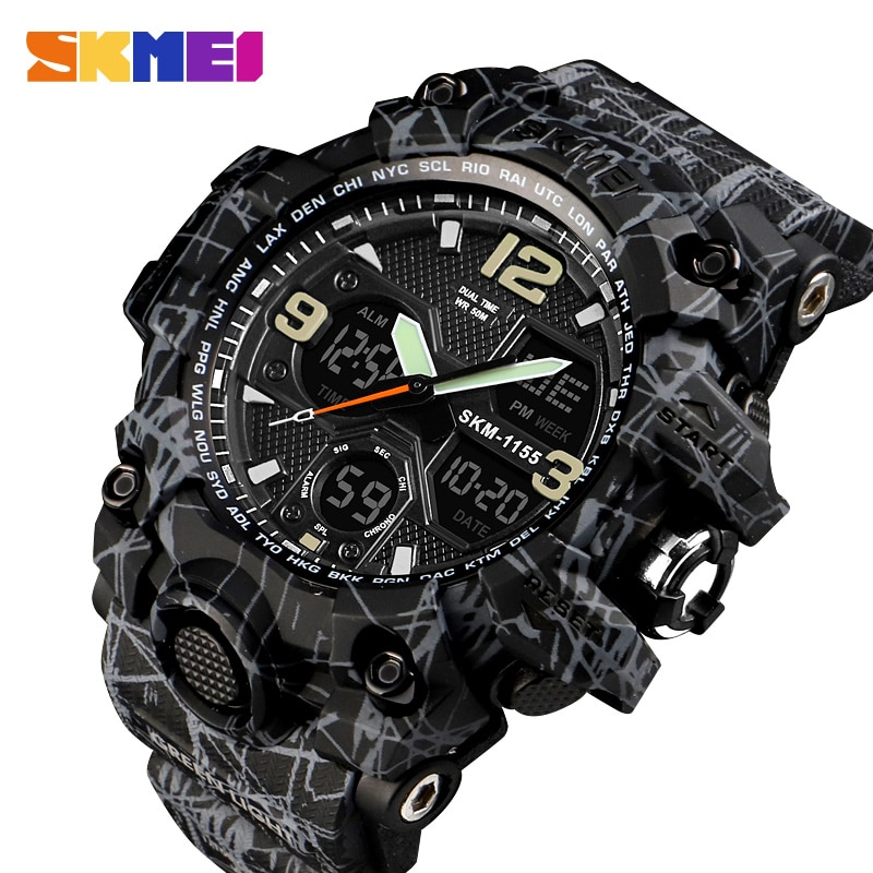 SKMEI Brand Military Men Sports Watches Luxury Waterproof Quartz Analog Clock Men Fashion LED Digital Watches Relogio Masculino