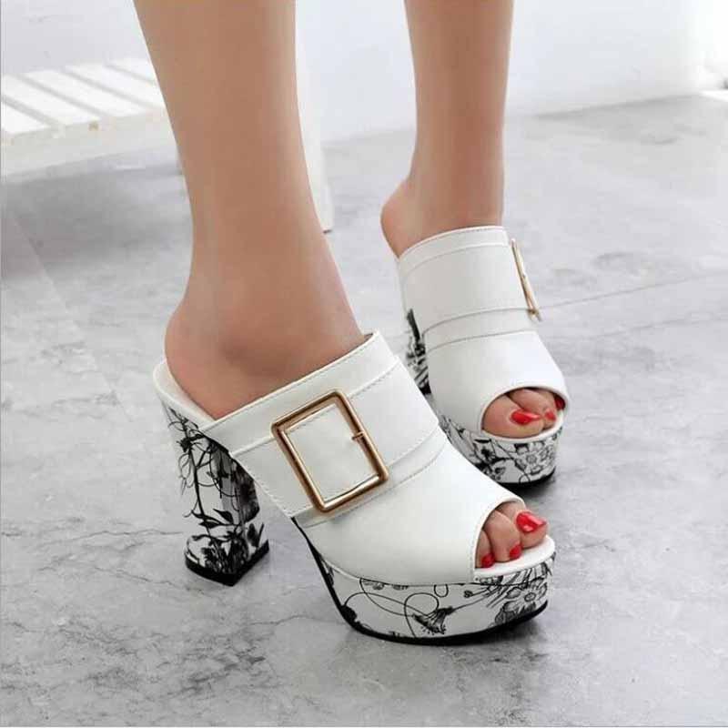 Sandalias de verano para mujer, zapatillas de tacón alto, SandalsTransparent, azul, Stiletto Serpentine, zapatillas de mujer