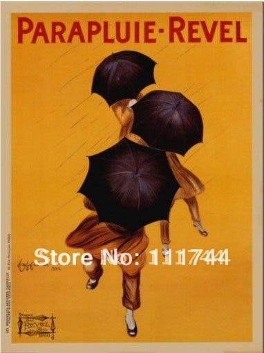 Pintura en lienzo arte moderno Parapluie Revel c.1922 de Leonetto Cappiello 100% hecho a mano de alta calidad