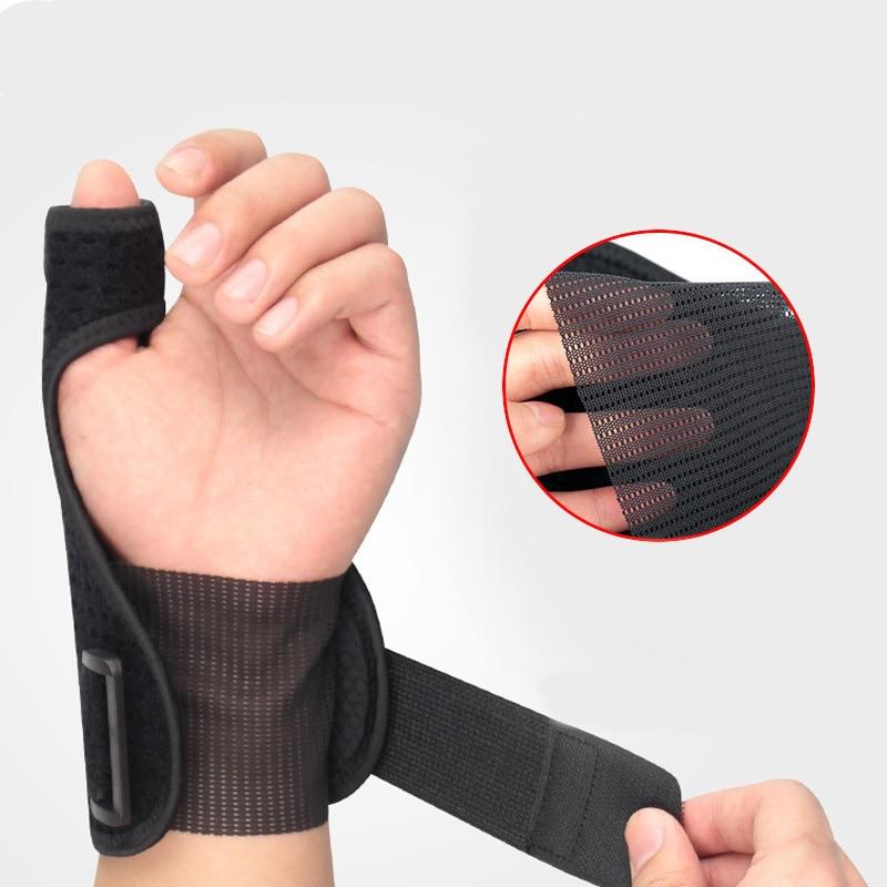 Protectores de muñequera ajustables deportes túnel carpiano pulgar espray protectores muñequera al aire libre artritis soportes de muñeca