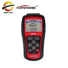 KONNWEI KW808 OBD2 сканер автомобиля кВт 808 диагностических кодов может сбросить инструмент ms509 Авто покрытие сканера Бесплатная доставка