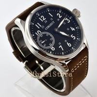 44mm Corgeut men's watch hand-winding 6497 mechanical watch fashion business luminous waterproof watch