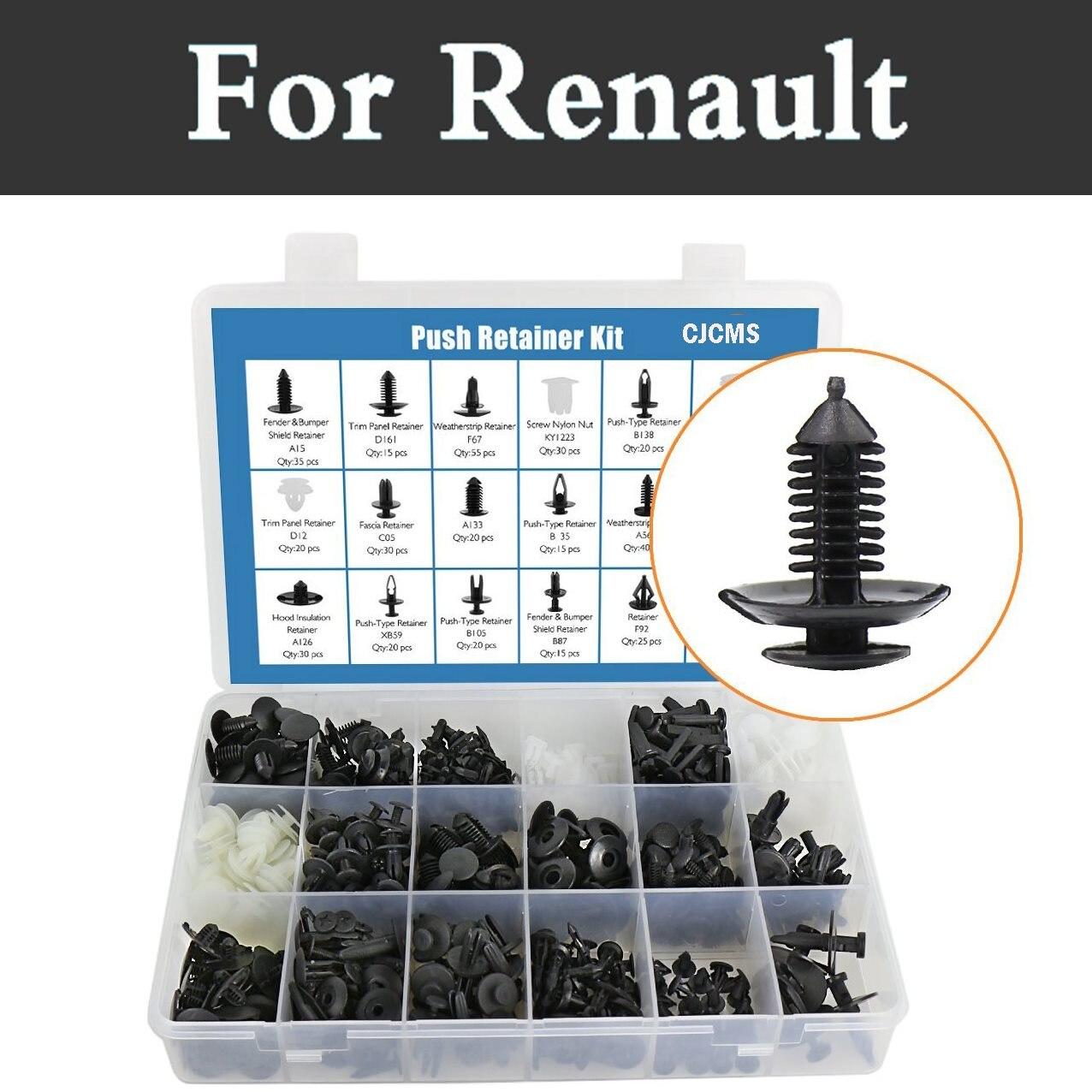 415x Car Retainers Door Bumper Trim Clip Rivets Push Pin Fasteners Kit For Renault Laguna Latitude Logan Megane Safrane Sandero