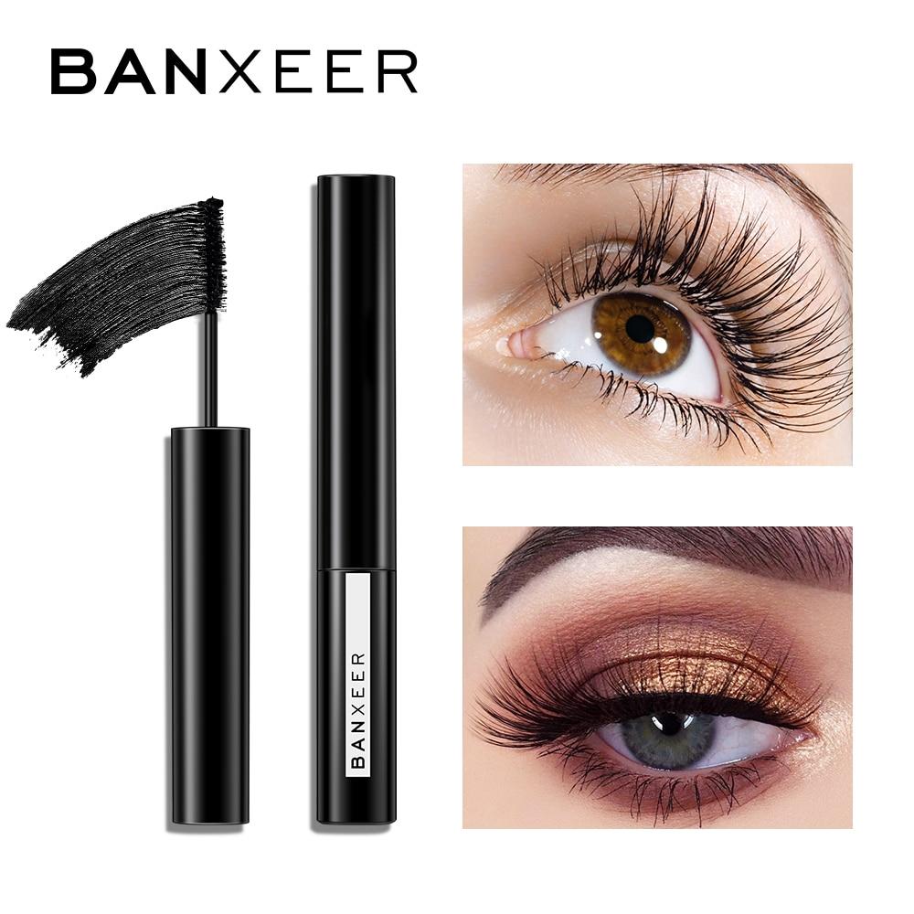 BANXEER Mascara Waterproof 4d Silk Fiber Eyelash Mascara Rimel 3D Mascara Facial For Eyelash Extension Thick Lengthening Mascara