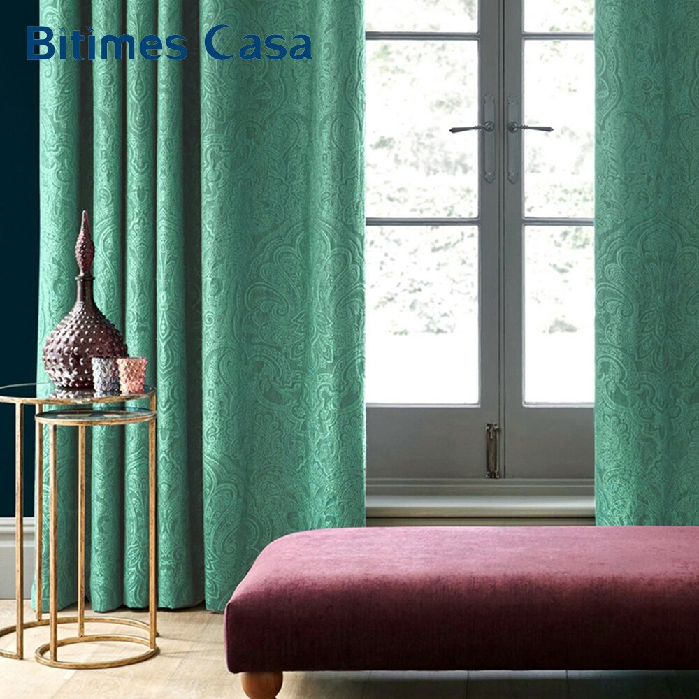 Customized Size 3D Embossed Velvet Blackout Windows Curtain Drape Panel For Living Room Bedroom Interior Home Decoration