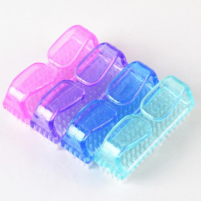 50 X Nail Art Escova de Limpeza de Poeira Limpa Pincel Acrílico Durável UV Gel Polonês Manicure DIY Profissional Lidar Com Escovas de Esfregar