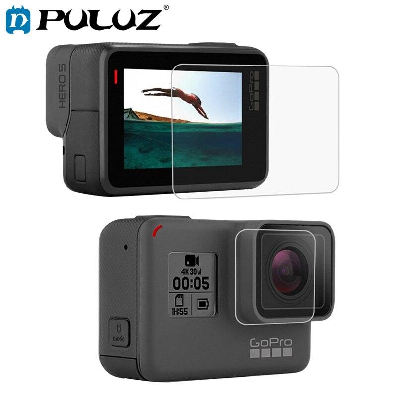 PULUZ-cristal templado para GoPro héroe 7 Protector de pantalla HD de lente...