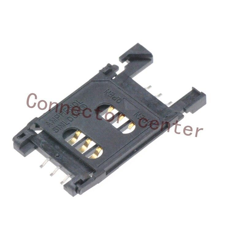 SIM Card Connector For Amphenol 2.54mm SIM Card Reader Holder Original C707 10M006