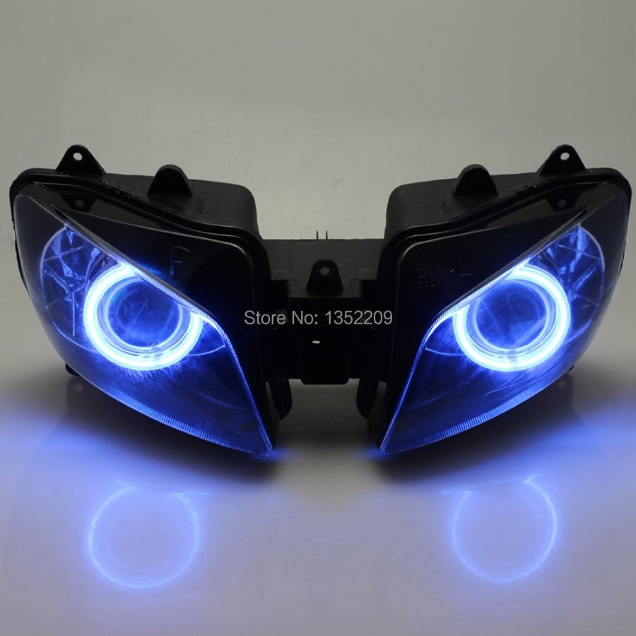 Новый проектор фар в сборе HID Blue Angel Eyes Demon для Yamaha YZF R1 1998-1999 на заказ