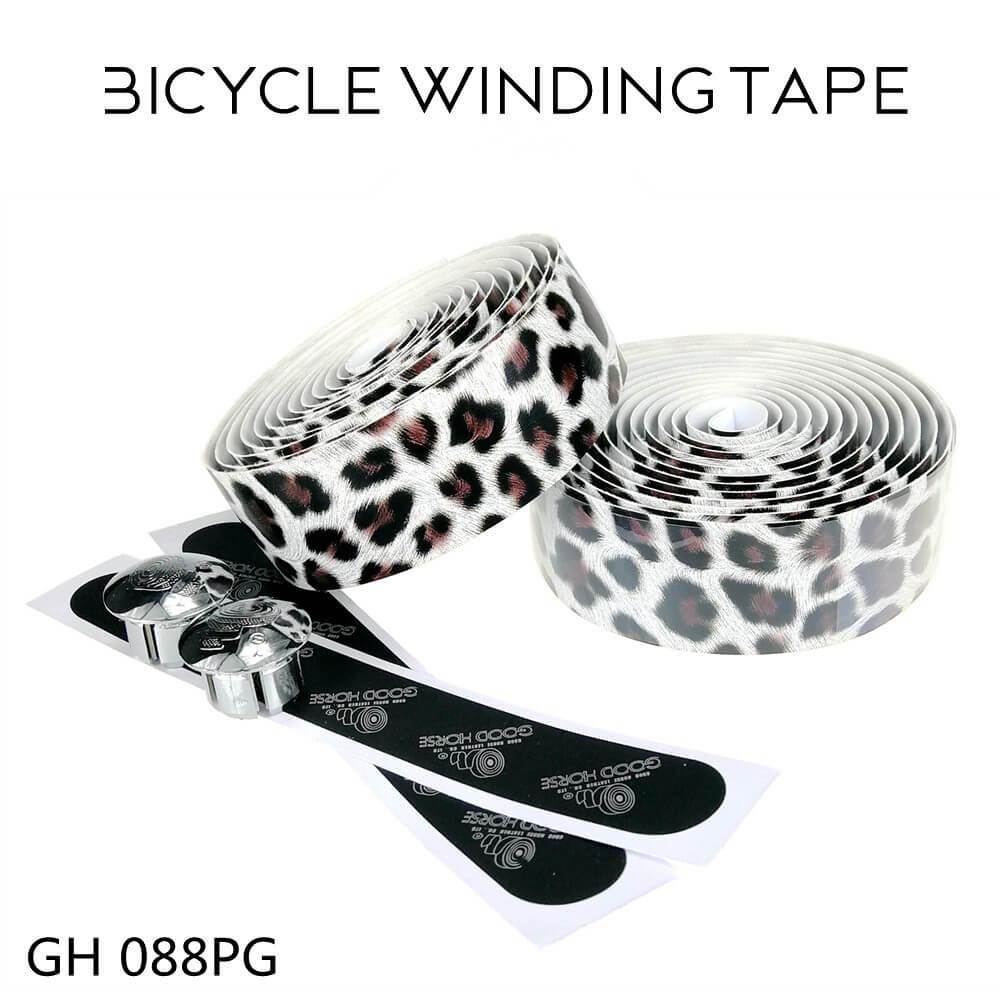 Cinta de manillar de bicicleta con estampado de leopardo agarre de Béisbol Posición raqueta de bádminton cinta antideslizante piñón fijo cinta de manillar de bicicleta s