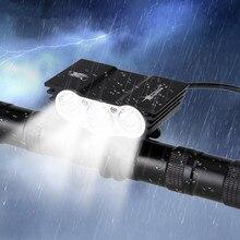 1500 Lumen 3 lampe à LED perles avant guidon vélo lumière 12000 mAh batterie Pack chargeur ca vélo lumière accessoires