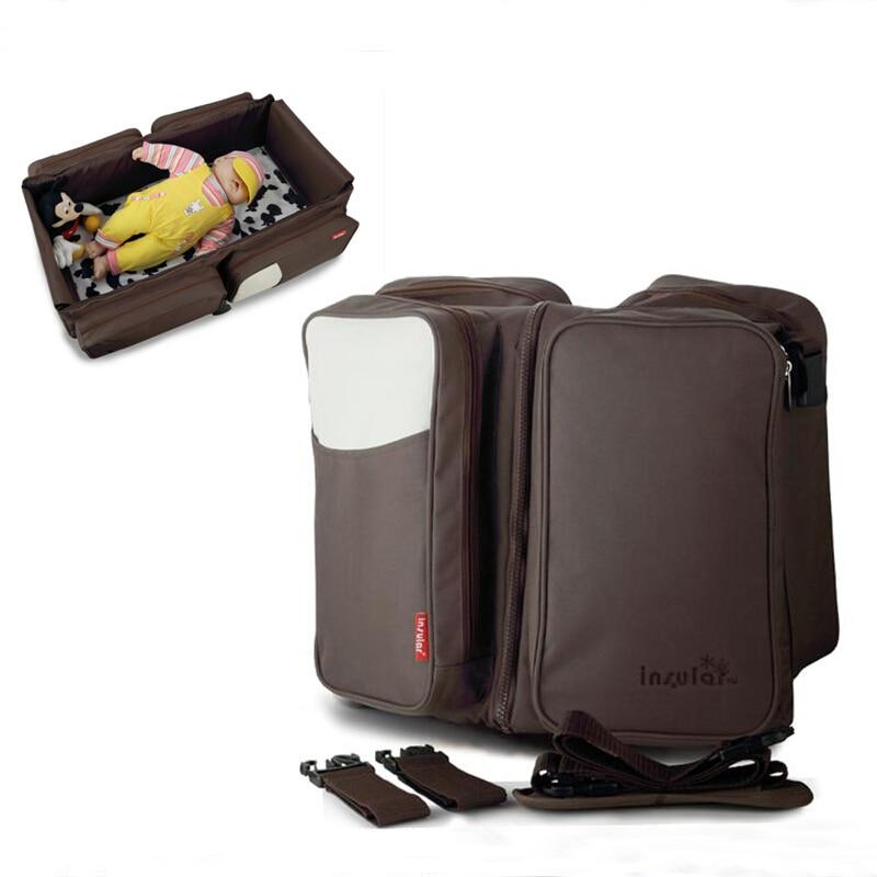 Baby Diaper Bag For Mom Portable Crib