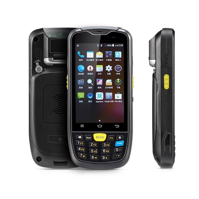 Preço barato Android 6.0 Smartphone Tela Polegada 4 1D 2D Barcode Scanner Leitor NFC Sem Fio Opcional