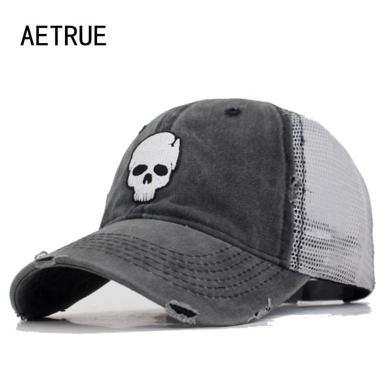 AETRUE Baseball Cap Women Hats For Men Animal Skull Snapback Caps Casquette Bone Mesh Summer Gorras Male Dad Baseball Hat Cap