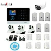 SmartYIBA-Alarmsysteem   Magasin sans fil intelligent  systeme dalarme de securite WIFI GSM intranet avec sirene dinterieur bleue sans fil