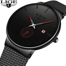 Montre homme Ultra mince 2019 montres homme de luxe marque cadeau homme horloge affaires montre-bracelet Quartz pour hommes Relogio Masculino