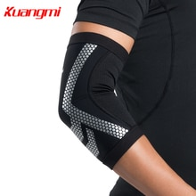 Kuangmi, 1 pieza, rodilleras de voleibol de baloncesto, nueva serie excitada, cálido, transpirable, manga de codo, regalo familiar