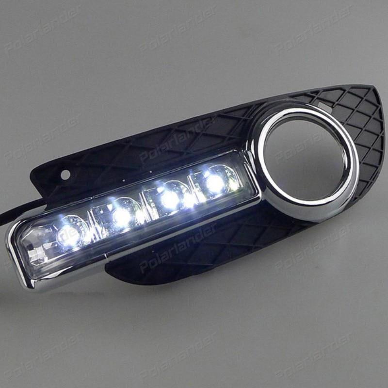 Phare antibrouillard pour M/itsubishi L/ancer EX 2010-2012 12v   Accessoire de voiture 2 pièces, feux de jour pour la conduite