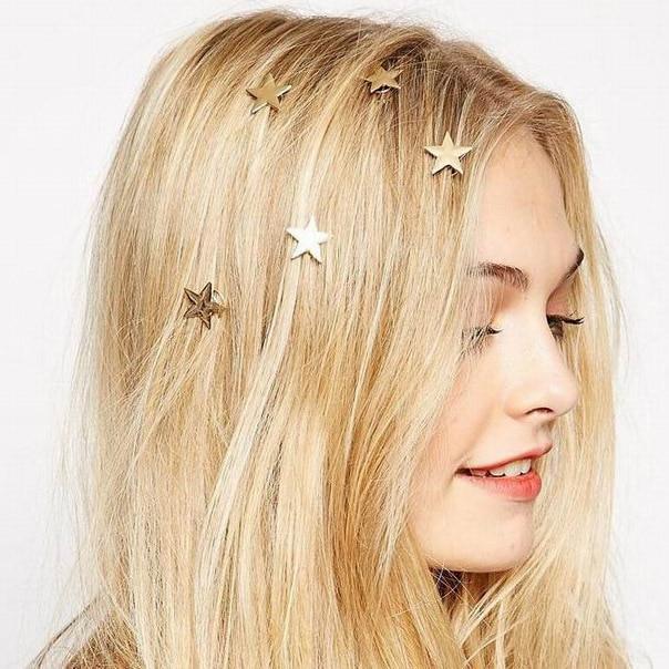 2016 chegada do novo estilo restaurando antigas maneiras de metal dourado elástico little star cabeça grampo de cabelo acessórios de cabelo