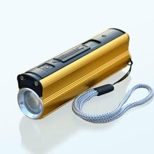 Multi-function LED Flashlight USB Charging Emerge Mini Portable Self-Defense With Mobile Power Cigarette Lighter Home Car DSD003