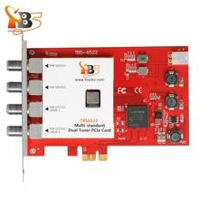 TBS6522 DVB-S2X/S2/S/T2/T/C2/C/ISDB-T double Tuner PCI-e prise en charge de la carte VCM, CCM, QPSK, 8PSK, 16 APSK, 32 APSK