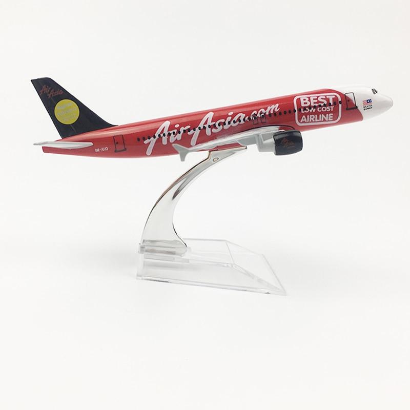 16cm Air Asia Airlines aeroplano mejor modelo 2007 A320 Air Asia Metal Diecast aviación Modelo 1 400 Airway aviones modelo escala juguete