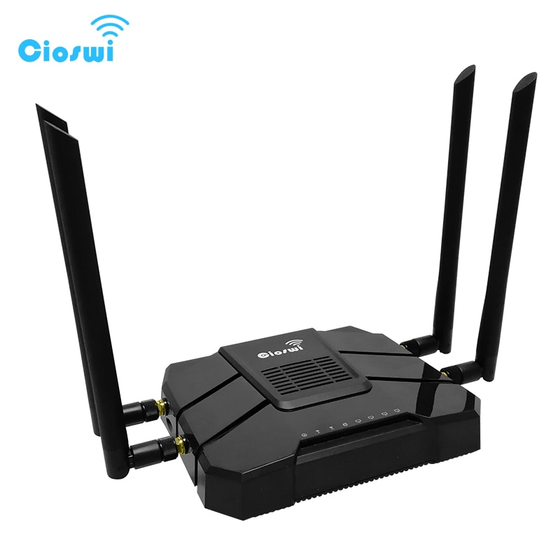 cioswi high power openwrt router 3g 4g wifi router modem with 4 lan and sim card slot smart gigabit router for usb 3 0 1200 mbps CSW-WR246 4g wifi router with sim card slot lte modem usb 802.11AC 1200mbps dual band 5G gigabit 3g router for office long range