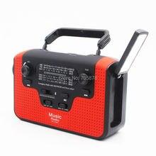 Многофункциональное радио Динамо FM/AM/SW1-SW4 (tf-карта), с ручной рукояткой, Солнечная Радио Bluetooth колонка, USB зарядное устройство для телефона, св...