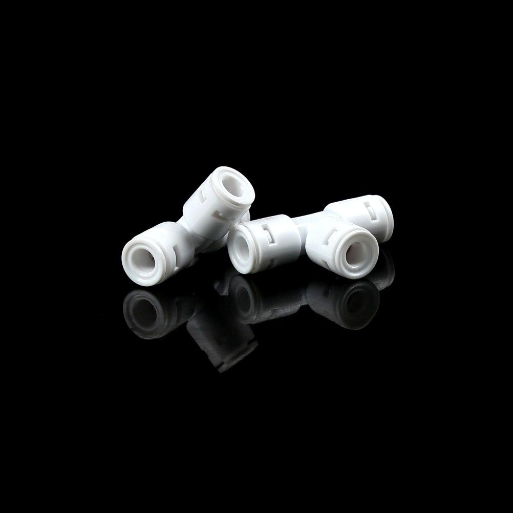 """O filtro de água parte 2 pces 1/4 """"t da união de 3 vias do tubo de o.d conecta rapidamente o purificador de água do ro do ajuste do impulso reverso"""