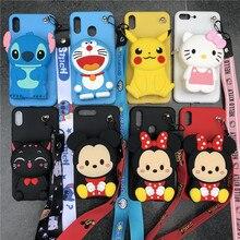 Cartoon Stitch Minnie Zipper Wallet Phone Case for OPPO A1K K1 K3 Realme 3 3 Pro X lite Reno Z Reno 5G 10x zoom Silicone Cover